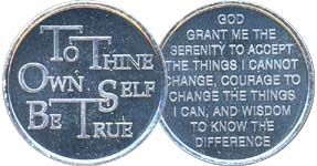 To Thine Own Self Be True Aluminum Medallion