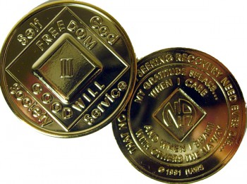 Narcotics Anonymous Gold Plated Medallion