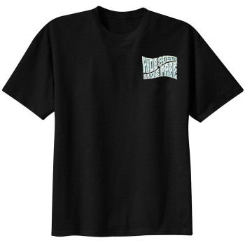 Ride Sober Live Free Black Tee Shirt Front
