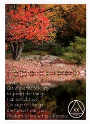 Home Birthday Anniversary Cards Alcoholics Anonymous Autumn Scene