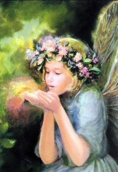Beautiful Glitter Dream Duster Birthday Card