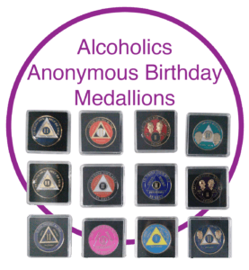 Alocholics Anonymous Birthday Medallions